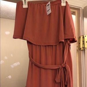 Pink sleeveless jumpsuit